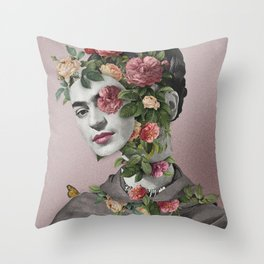 Frida Floral II Throw Pillow