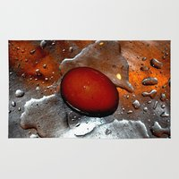 egg Area & Throw Rugs featuring egg by  Agostino Lo Coco