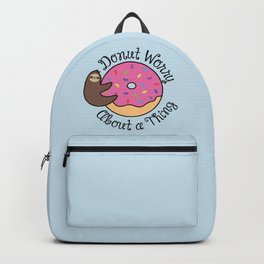 Donut Worry Sloth Backpack