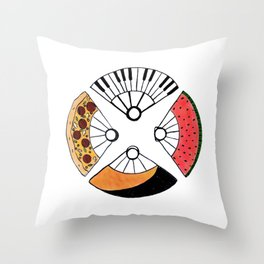 4 fire fans for any case Throw Pillow