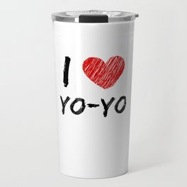 I Love Yo-Yo Travel Mug