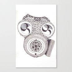 Celtic gasmask Canvas Print