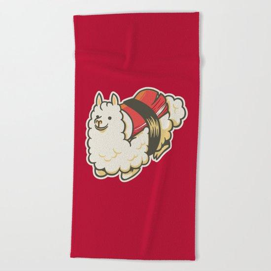 Alpaca Sushi Niguiri III Beach Towel