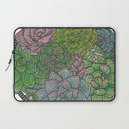 Let it Grow, Succulent Illustration Laptop Sleeve