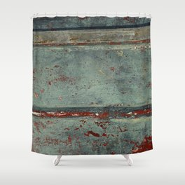 Boat Wood Paint Texture Cornwall Shower Curtain