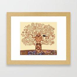 Kokeshi Tree of life Framed Art Print