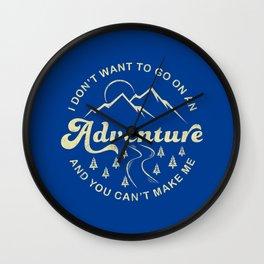 I Don't Want To Go (Cream) Wall Clock