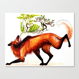 The Maned Wolf Canvas Print