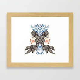 Miss Lavanda Framed Art Print