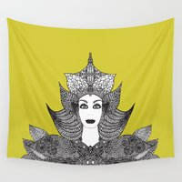 goddess Wall Tapestries featuring Goddess by ioannart
