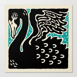 Black Swan 124 Canvas Print