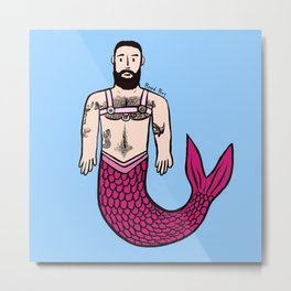 Beard Boy: Adam Merman Metal Print