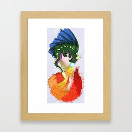 The Dragon And The Phoenix Framed Art Print