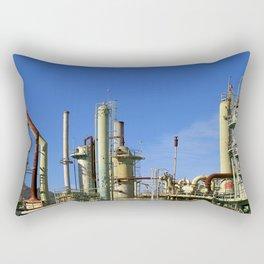 Oil Refinery Rectangular Pillow