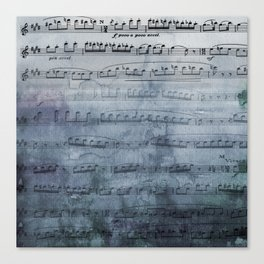 Almost Gray Mood Music Canvas Print
