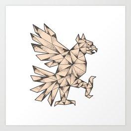 Cuauhtli Glifo Eagle Tattoo Art Print