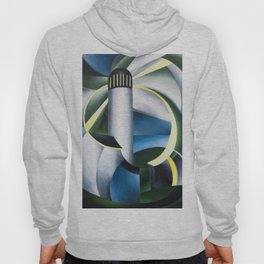 Variation on a Lighthouse landscape painting by Ida O'Keeffe Hoody
