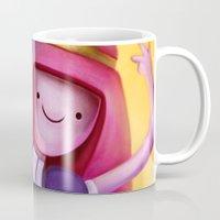princess bubblegum Mugs featuring Princess Bubblegum by Niniel