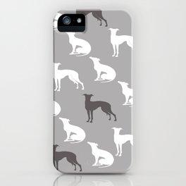 Greyhound Dogs Pattern iPhone Case