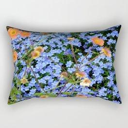 Blue, Orange, and Green Rectangular Pillow