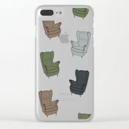 Seventies Armchair Pattern - Version 4 #society6 #seventies Clear iPhone Case
