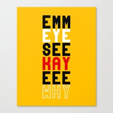 Mickey on Yellow Canvas Print