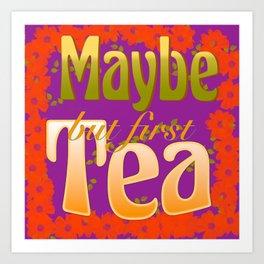 Tea Time Lime Art Print