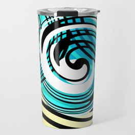 "Rotating in Circles Series 05 ""Ocean Waves"" Travel Mug"