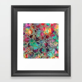 Dots on Painted Background 6 Framed Art Print