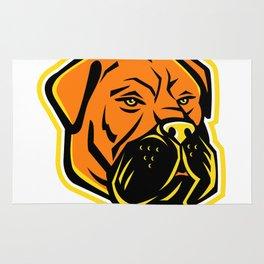 Bullmastiff Dog Mascot Rug