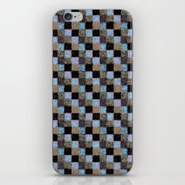 Rustic Brown Multicolored Black Patchwork iPhone Skin
