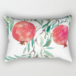 red pomegranate watercolor Rectangular Pillow