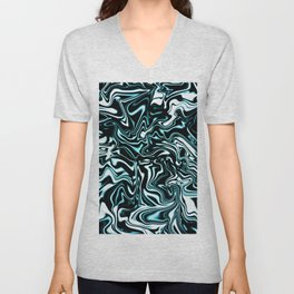Liquify Marbled Abstract 6 Unisex V-Neck