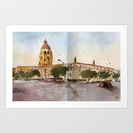Pasadena  Art Print