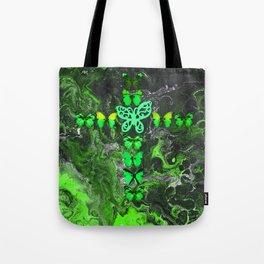 Emerald Fire Cross Tote Bag