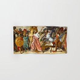 "Jean-Auguste-Dominique Ingres ""Romulus' Victory Over Acron (Romulus, Conqueror of Acron)"" Hand & Bath Towel"