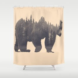forest in the bear Shower Curtain