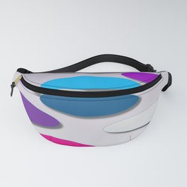 Cool Colors - Large Ovals - Digial Design - Pretty Colors Fanny Pack