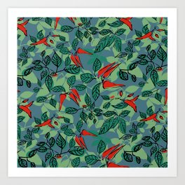 chillie (blue) Art Print