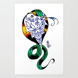 TeacupCobra Art Print