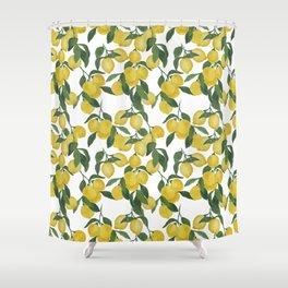 Lemons on Cloud Shower Curtain