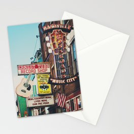 Lower Broadway, Nashville print  Stationery Cards