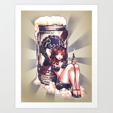 BLUE RIBBON PRINCESS Art Print