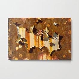 Paint on rust Metal Print