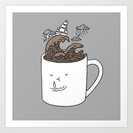 Brainstorming Coffee Mug Art Print