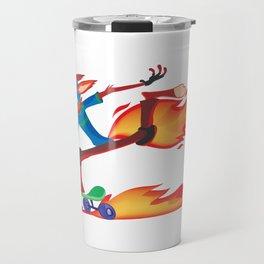 Fox Skater Travel Mug