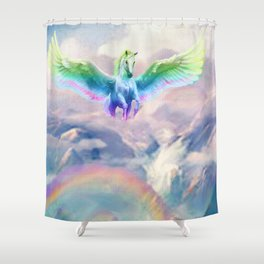 Rainbow Canyon Pegasus Shower Curtain