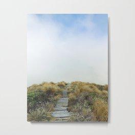 New Zealand Cloud Track Metal Print