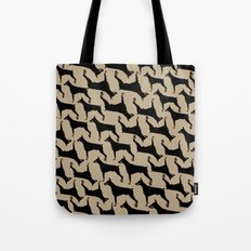 Dog -Doberman: Black Khaki Tote Bag