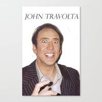 nicolas cage Canvas Prints featuring John Travolta // Nicolas Cage by Jared Cady